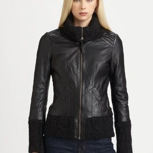 Mackage Knit collar Leather Jacket